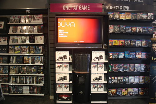 OUYA display at GAME